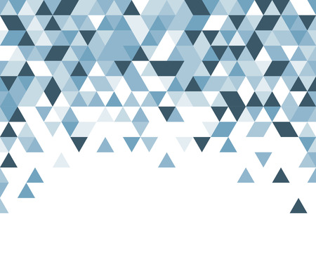 White abstract background with blue triangles. Vector illustration.
