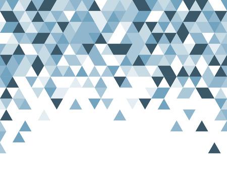 Weiß abstrakten Hintergrund mit blauen Dreiecke. Vektor-Illustration. Vektorgrafik