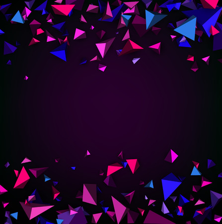 prospects: Purple abstract background with 3d figures. Vector illustration. Illustration