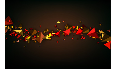 figures: Brown abstract background with 3d figures. Vector illustration.
