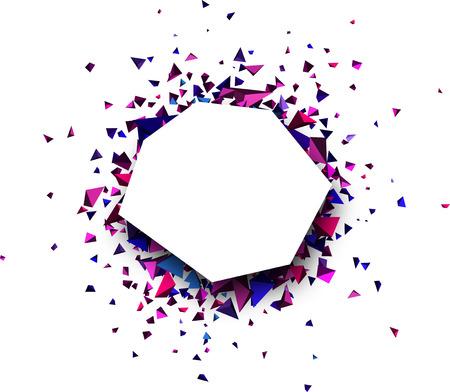 figuras abstractas: Fondo abstracto blanco con figuras 3d. Ilustración del vector.