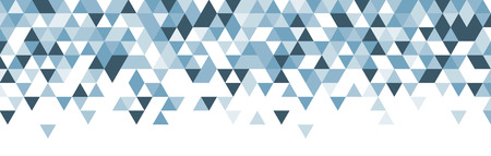 White abstract banner with blue triangles. Vector illustration. Ilustração