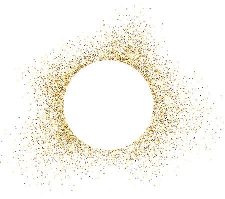 gold coast: White background with sand. Vector illustration. Illustration