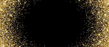 bannière noire avec du sable. Vector illustration. Vecteurs