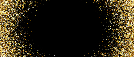 sand background: Black banner with sand. Vector illustration. Illustration