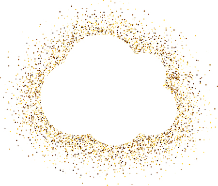 gold coast: White cloud background with sand. Vector illustration. Illustration