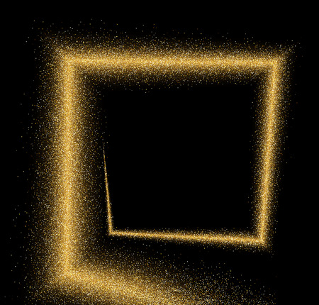 Black absrtact background with sand. Vector illustration.