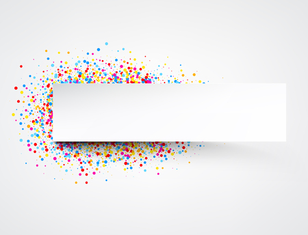 contrasty: Light banner with color drops. Vector illustration. Illustration