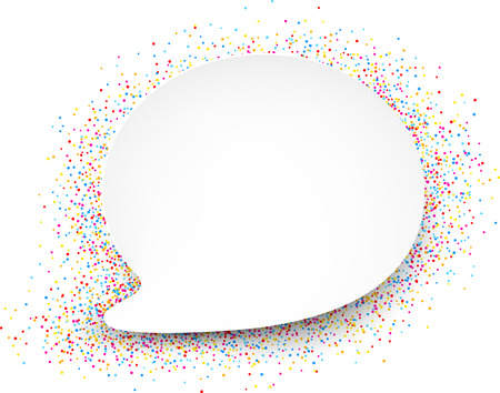 color drops: White quotation background with color drops. Vector illustration.