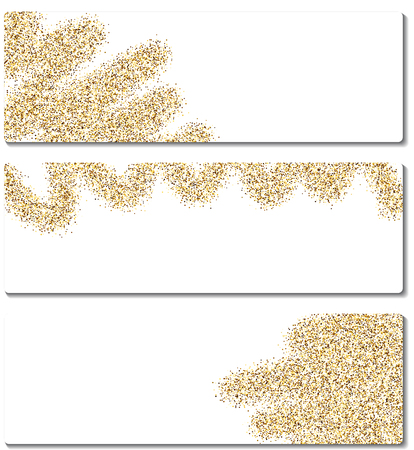 gold coast: Set of abstract banners with sand. Vector illustration.
