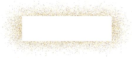 gold coast: White banner with sand. Vector illustration. Illustration