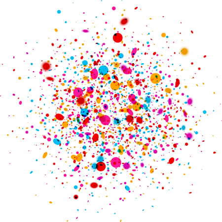 color drops: White paper background with color drops. Vector illustration. Illustration