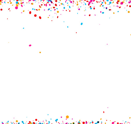 festive: Festive paper background with color confetti. Vector illustration.