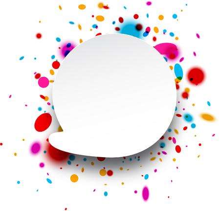 replica: Paper abstract replica background with color drops. Vector illustration. Illustration