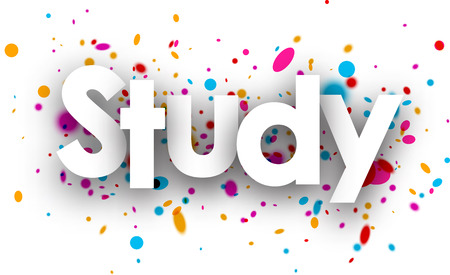 color drops: Study paper banner with color drops. Vector illustration. Illustration