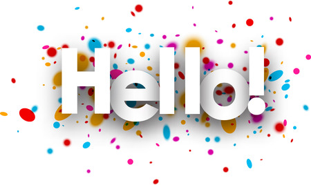 color drops: Hello paper background with color drops. Vector illustration. Illustration