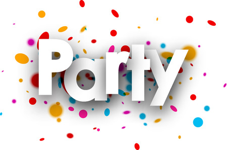 color drops: Party paper banner with color drops. Vector illustration. Illustration