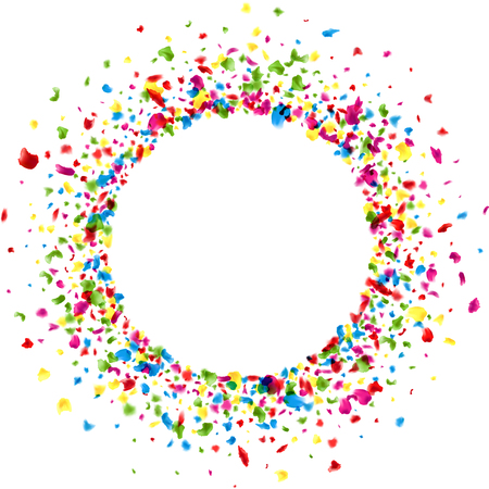 color drops: Paper round white background with color painted drops. Vector illustration. Illustration