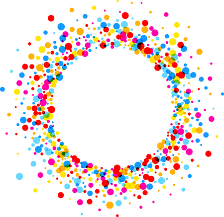 color drops: Paper round white background with color drops. Vector illustration. Illustration