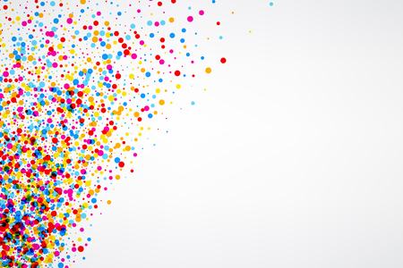 White paper background with color drops. Vector illustration. Illustration
