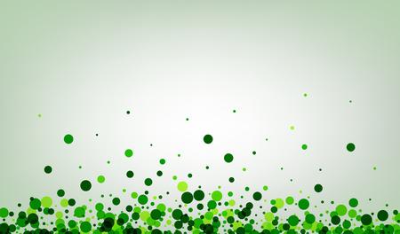 White paper background with green confetti. Vector illustration. Vektoros illusztráció