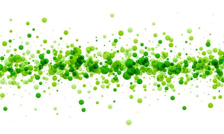 Weißes Papier Hintergrund mit Streifen von grünen Tropfen. Vektor-Illustration.