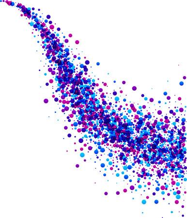 spray: papel blanco de fondo con olas de gotas de color púrpura. Ilustración del vector.