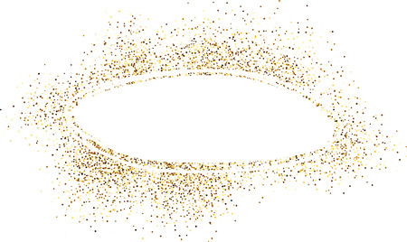 contrasty: White oval horizontal background with sand. Vector paper illustration.