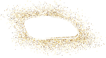 contrasty: White oval background with sand. Vector paper illustration. Illustration