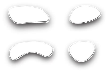 figured: Set of white figured backgrounds. Vector paper illustration.
