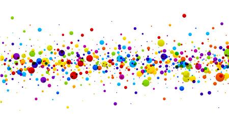 Weißes Papier Hintergrund mit Farbstreifen Tropfen. Vektor-Illustration.