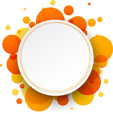 Papier rond fond abstrait orange. Vector illustration.