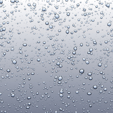 fizzy: Gray background with bubbles. Vector paper illustration.