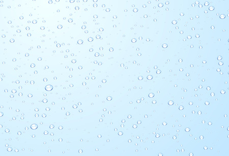 blue bubbles: Blue background with bubbles. Vector water illustration. Stock Photo