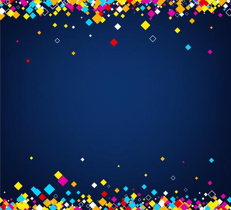 figuras abstractas: Fondo abstracto azul con rombos de color. Vector ilustración de papel.