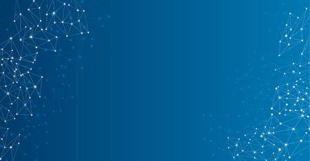 グローバルコミュニケーション抽象的な青い背景。ベクトルの紙の図。