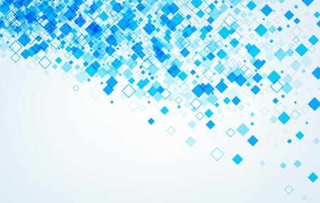 Arrière-plan avec des losanges bleus. Vector papier illustration. Vecteurs