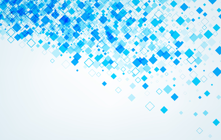 Background with blue rhombs. Vector paper illustration. Иллюстрация