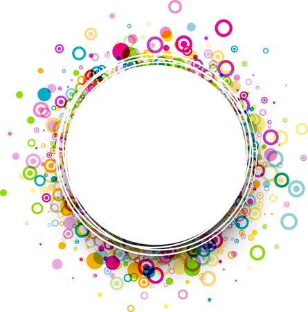 白い円形の背景色の円パターンに。