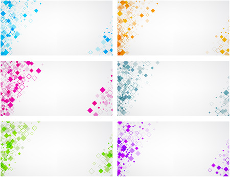 White backgrounds set with colour rhombus pattern. Illustration