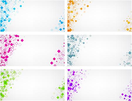 fondos blancos establecen con patrón de color rombo.