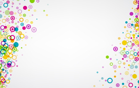white colour: White background with colour circles pattern. Illustration