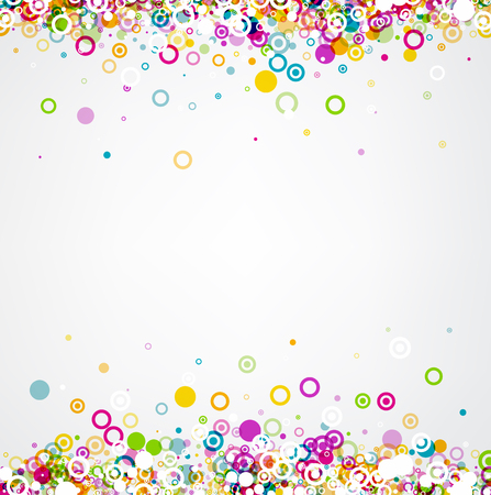 white colour: White background with colour circles geometric pattern.