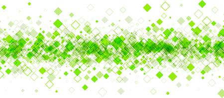 Weiße Fahne mit grünen Rauten. Vektor-Papier-Illustration.
