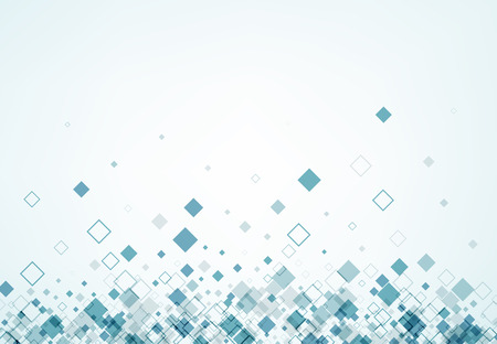 figuras abstractas: Fondo blanco con rombos azules. Vector ilustración de papel.