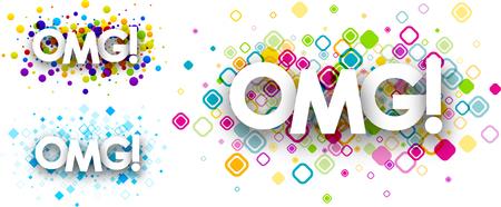 Omg colour backgrounds set. Vector paper illustration. Illustration