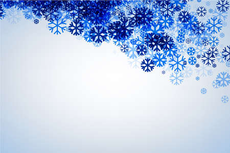 wintery: Winter background with blue snowflakes. Vector illustration. Illustration