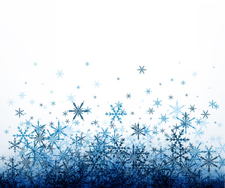 white winter: White winter background with blue snowflakes. Vector illustration. Illustration