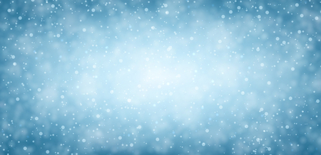 wintry: Blue winter banner with snow. Vector illustration.