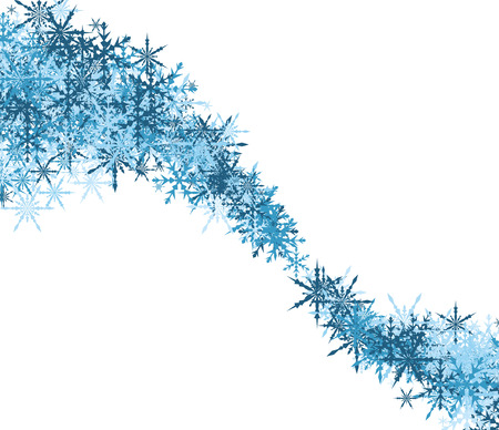 white winter: White winter background with whirl of blue snowflakes. Vector illustration. Illustration